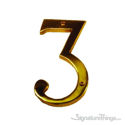 "Traditional 6"" Raised Numeral 3"