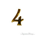 "Traditional 6"" Raised Numeral 4"