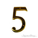 "Traditional 6"" Raised Numeral 5"