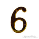 "Traditional 6"" Raised Numeral 6 or 9"