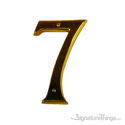 "Traditional 6"" Raised Numeral 7"