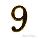 "Traditional 6"" Raised Numeral 9"