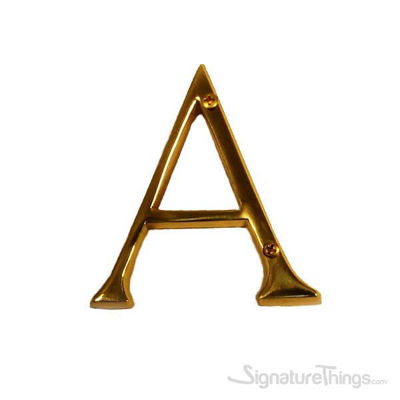 """Traditional Solid Brass 4"""" Raised of Letter A"""