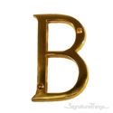 """Traditional Solid Brass 4"""" Raised of Letter B"""