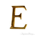 """Traditional Solid Brass 4"""" Raised of Letter E"""