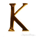 """Traditional Solid Brass 4"""" Raised of Letter K"""