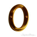 """Traditional Solid Brass 4"""" Raised of Letter O"""