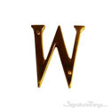 """Traditional Solid Brass 4"""" Raised of Letter W"""