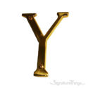 """Traditional Solid Brass 4"""" Raised of Letter Y"""