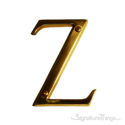 """Traditional Solid Brass 4"""" Raised of Letter Z"""