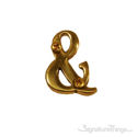 """Traditional Solid Brass 4"""" Raised of Letter Ampersand (&)"""