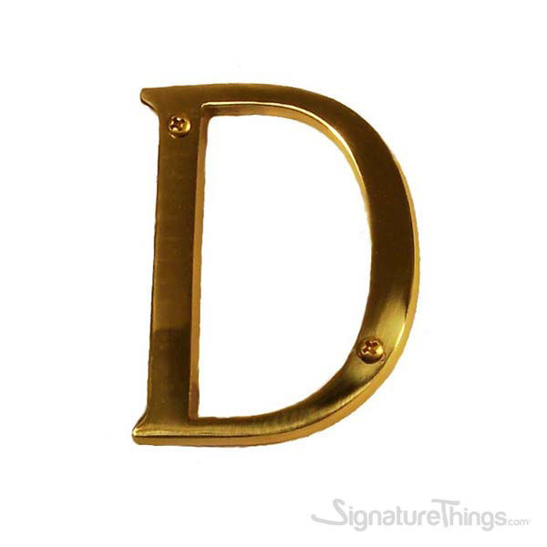 """Traditional 4"""" Letter D"""