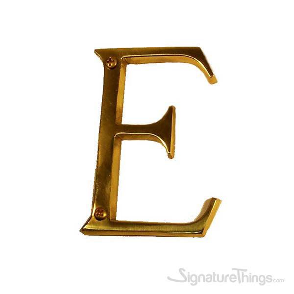 "Traditional 4"" Letter E"