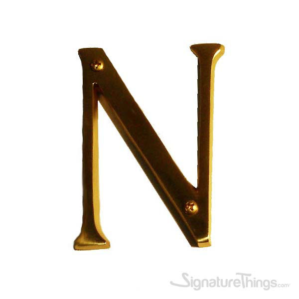 """Traditional 4"""" Letter N"""