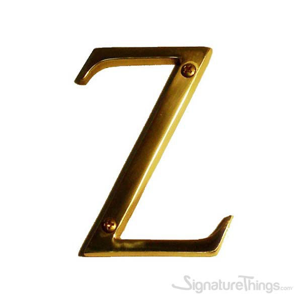 """Traditional 4"""" Letter Z"""
