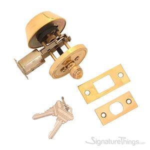 Single Cylinder Deadbolt 2-3/8 Inch or 2-3/4 Inch