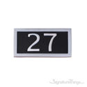 Two Numeral Address Marker Plaque - Aluminum - Black
