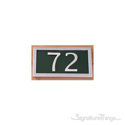 Two Numeral Address Marker Plaque - Aluminum - Classic Green