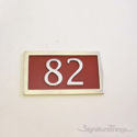 Two Numeral Address Marker Plaque - Aluminum - Redwood