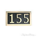Three Numeral Address Marker Plaque - Solid Brass - Black