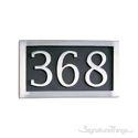 Three Numeral Address Marker Plaque - Aluminum - Black