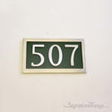 Three Numeral Address Marker Plaque - Aluminum - Classic Green