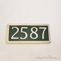Four Numeral Address Marker Plaque - Aluminum - Classic Green