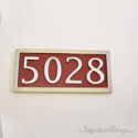 Four Numeral Address Marker Plaque - Aluminum - Redwood