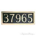 Five Numeral Address Marker Plaque - Solid Brass - Black