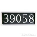 Five Numeral Address Marker Plaque - Aluminum - Black