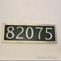 Five Numeral Address Marker Plaque - Aluminum - Classic Green