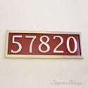 Five Numeral Address Marker Plaque - Aluminum - Redwood