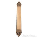 "European Push Plate 3"" x 23-3/8""-Antique Brass"