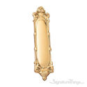"""Victorian Push Plate 3-1/4"""" x 15"""" - Polished Brass"""