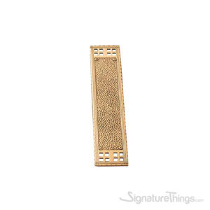 "Arts & Crafts Push Plate 2-7/8"" x 11-1/4"" - Polished Brass"