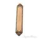 """Ribbon & Reed Push Plate 2-1/2"""" x 13-3/4"""" - Antique Brass"""