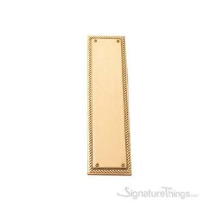 "Academy Push Plate 3-1/8"" x 12"" - Polished Brass"