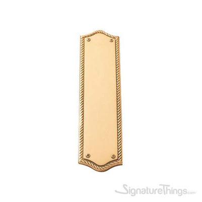 "Trafalgar Push Plate 2-3/4"" x 11"" - Polished Brass"