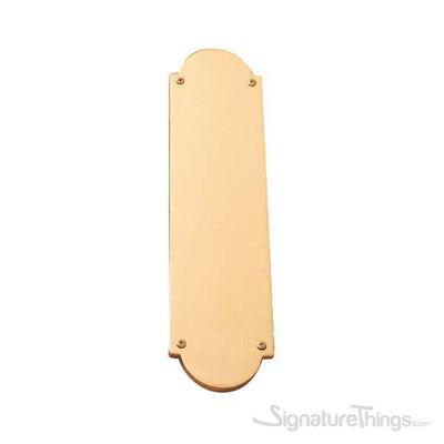 """Palladian Push Plate 3"""" x 12"""" - Polished Brass"""