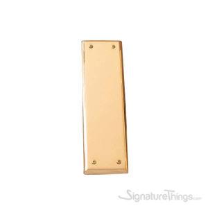 "Quaker Push Plate 2-3/4"" x 10"" - Polished Brass"