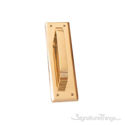"""Quaker Pull Plate 2-3/4"""" x 10"""" - Polished Brass"""