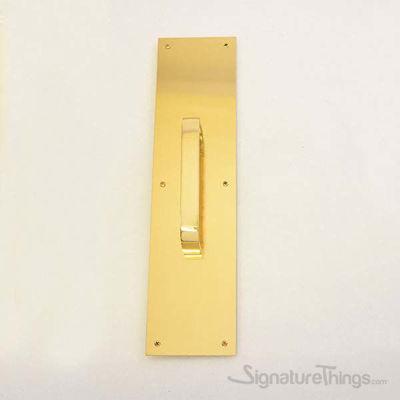 "Push Plate 3"" X 12"" - Polished Brass"