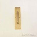 "Push Plate 3"" X 12"" - Antique Brass"