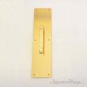 "Push Plate 3-1/2"" X 15"" - Polished Brass"
