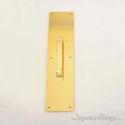 "Push Plate 3-1/2"" X 15"" - Lifetime Polished Brass"