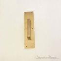 "Push Plate 4"" X 16"" - Antique Brass"