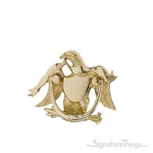 """Eagle Door Knocker 5-9/16"""" -  Polished Brass"""