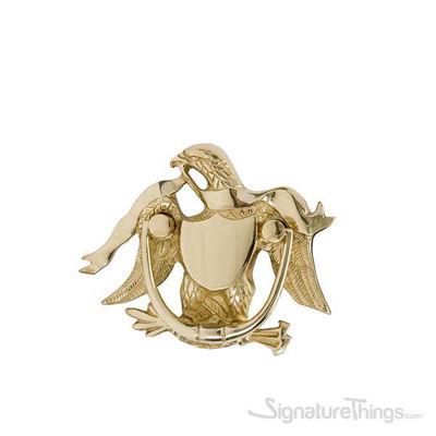 "Eagle Door Knocker 5-9/16"" -  Polished Brass"