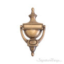 """Rope Door Knocker 8"""" -  Antique Brass"""