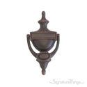 """Rope Door Knocker 8"""" -  Venetian Bronze"""
